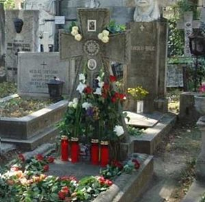 Maria Tănase - Maria Tănase's grave on what would have been her 100th birthday (at Bellu Cemetery, Bucharest)