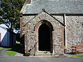 Mosser Parish Church, St Philip's. The John Dalton Memorial Church, Porch - geograph.org.uk - 553095.jpg