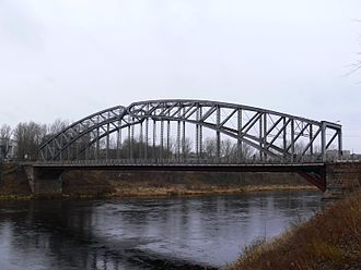 Borovichi - The railway arch bridge across the Msta