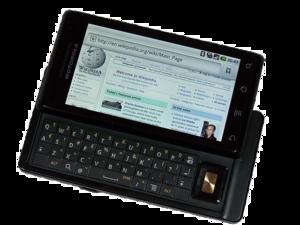 Motorola Droid - Image: Motorola milestone wikipedia