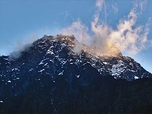 Mount Baker (Uganda) - Mount Baker seen from Bujuku hut.