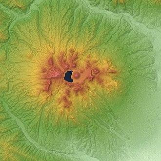Mount Haruna - Image: Mount Haruna Relief Map, SRTM 1