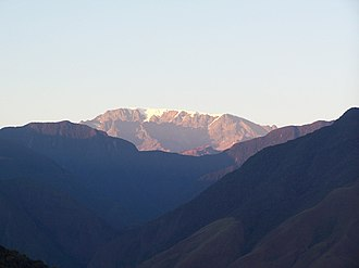 Sud Yungas Province - Mururata in Sud Yungas Province, as seen from Coroico