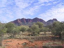 Il Monte Sonder, la quarta montagna più alta del Territorio del Nord nel parco nazionale di West MacDonnell