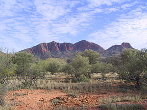 Mount Sonder, the second highest mountain in the Northern Territory after nearby Mount Zeil, in West MacDonnell National Park