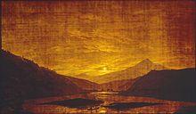 Caspar David Friedrich: Gebirgige Flusslandschaft, 1830–1835 (Quelle: Wikimedia)
