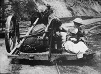 Kundala Valley Railway: Mrs. A.W. John on the monorail