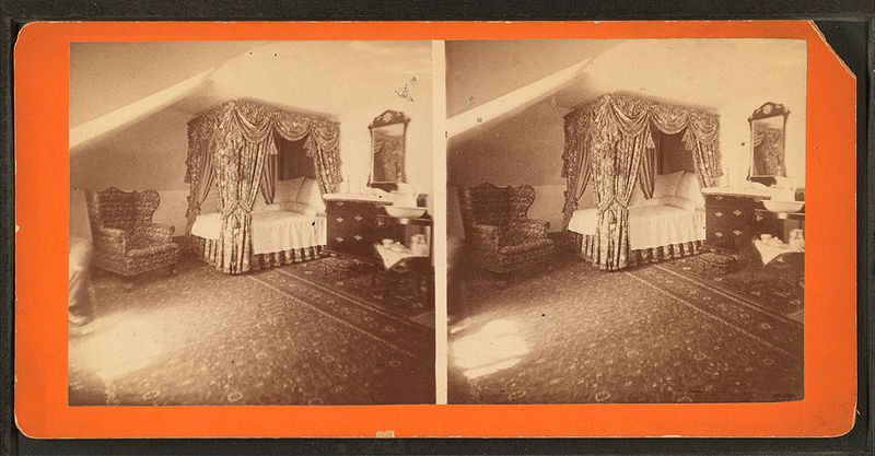 File:Mrs. Washington's bed-chamber where she died, (May, 1801). Mount Vernon mansion, by Dillon, Luke C., 1844-.jpg