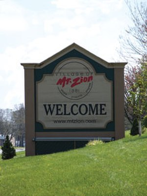 Mount Zion, Illinois - Mt. Zion Welcome Sign