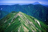 Mt Fuji from okuhijiridake 2001 9 25.jpg