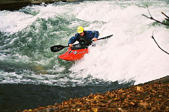 Eisbach (Isar) - Playboater on the Eisbach