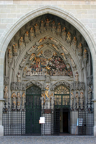 Bern Minster - Main entrance.