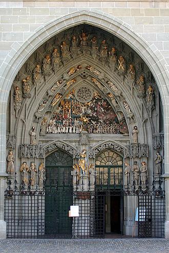 Bern Minster - Main entrance.