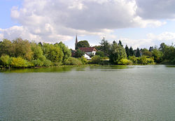 Church over pond