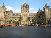 The Chhatrapati Shivaji Terminus, headquarters of the Central Railway