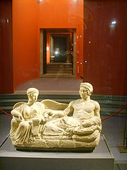 Etruscan couple, National Museum at Florence.