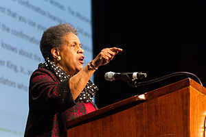 Myrlie Evers-Williams - Myrlie Evers-Williams at the Missouri Theatre in January 2015