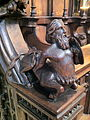 Mythical figure half man half horse in Ripon Cathedral.jpg