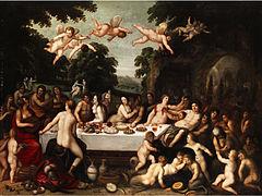 Mythologisches Gastmahl flämisch 17Jh