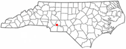 Location of Oakboro, North Carolina