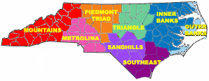 Eastern North Carolina - One interpretation of North Carolina's regions