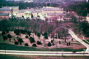 National Institutes of Health - NIH campus in Bethesda, Maryland, in 1945