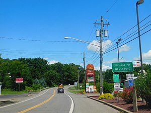 New York State Route 367 - Image: NY 367 at the state line