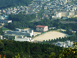 Nagasaki Kita high school overhed view.JPG
