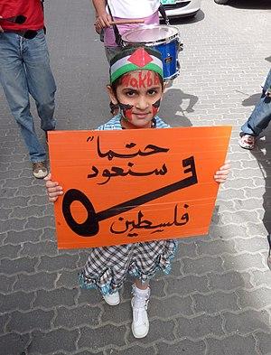 Nakba Day - Image: Nakba Day 2010 Hebron