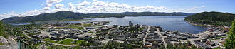 Namsos - Panorama of the town of Namsos