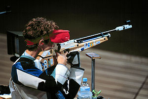 Shooting - Olympic competitive air rifle shooting by Nancy Johnson in Sydney 2000