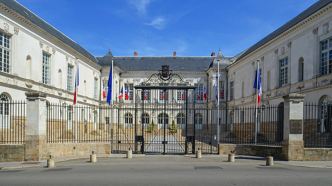Derval manor, main building of Nantes city hall - France