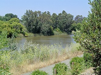 Napa River - The Napa River in Napa, as viewed from Copia