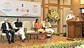 Narendra Modi addressing at the launches of the Gold schemes, in New Delhi. The Union Minister for Finance, Corporate Affairs and Information & Broadcasting, Shri Arun Jaitley, the Minister of State for Finance.jpg