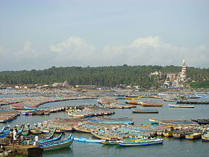 Harbor - A natural harbor in Vizhinjam, India