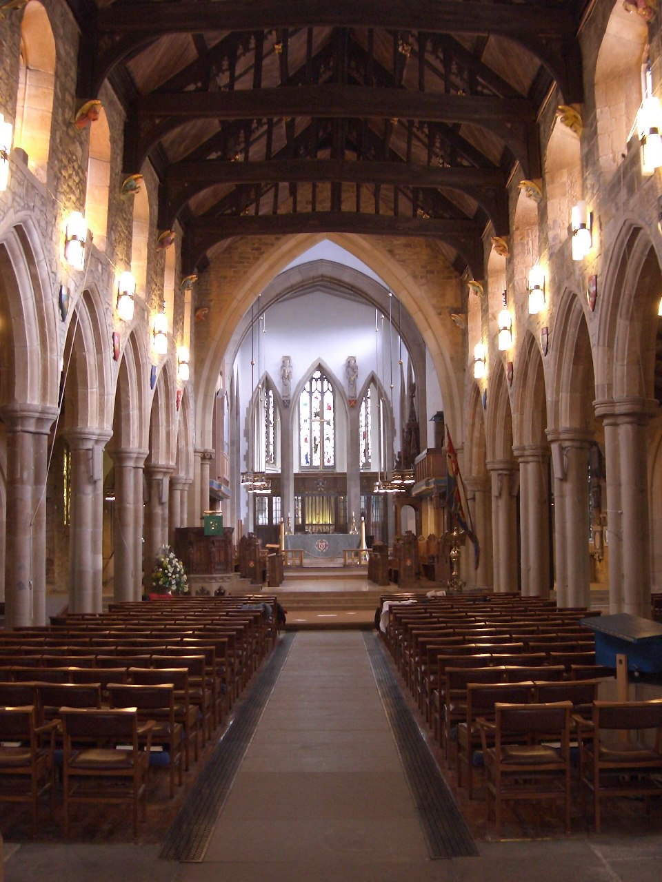 Nave of Bradford cathedral