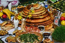 Navruz table in Tajikistan.JPG