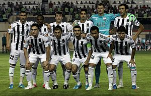 Neftçi PFK - Neftchi in Europa League before the match with Internazionale in 2012.