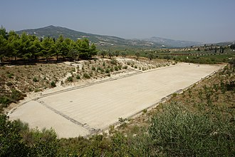 Corinthia - The ancient stadion of Nemea.