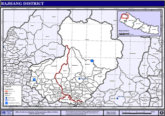 Map of the VDC/s in Bajhang District NepalBajhangDistrictmap.png
