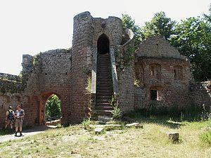 Neuscharfeneck Castle - Gate tower from the inner courtyard