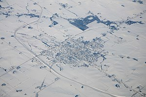New Hampton, Iowa - Aerial photograph of New Hampton from the southwest