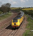 New Measurment Train operating Derby-St Pancras - Derby swings round from Sharnbrook towards Wellingborough.jpg