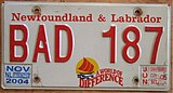Newfoundland and Labrador license plate 2005.jpg