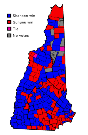 United States Senate election in New Hampshire, 2008 - Results by municipality.