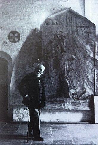 Niels Larsen Stevns - Niels Larsen Stevns in the church of the Holy Spirit in Slagelse. 1938