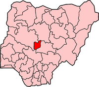 Location of the Federal Capital Territory in Nigeria