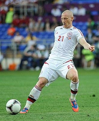 Niki Zimling - Zimling playing for Denmark at the UEFA Euro 2012
