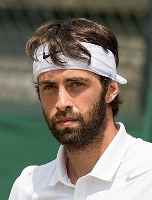 Nikoloz Basilashvili - Basilashvili at the 2015 Wimbledon Qualifying Tournament