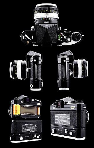 Nikon - Nikon F Black Motor Camera 50mm